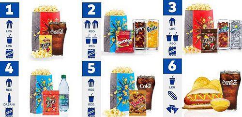 Cineplex Snack Combo Prices