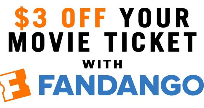 $3 Off Movie Ticket With Fandango