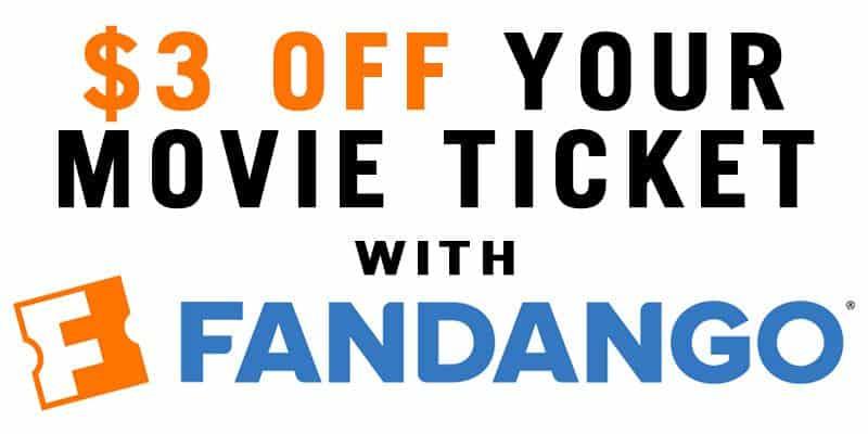 $3 Off Movie Ticket With Fandango