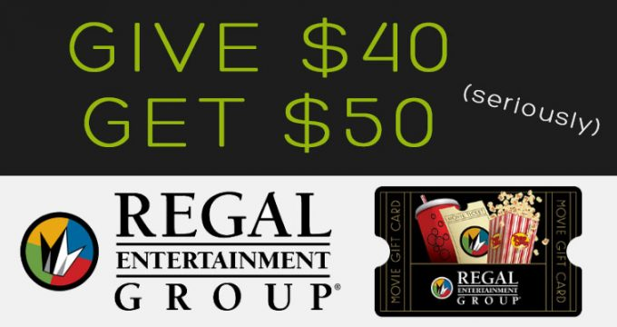 get your 50 regal gift card for 40 movie deal expired