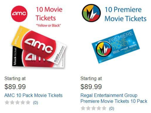 Costco Bulk Priced Movie Tickets