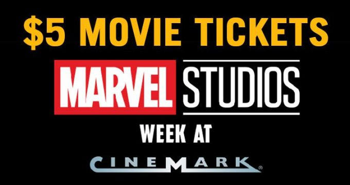 $5 Movie Tickets at Cinemark   Coupon