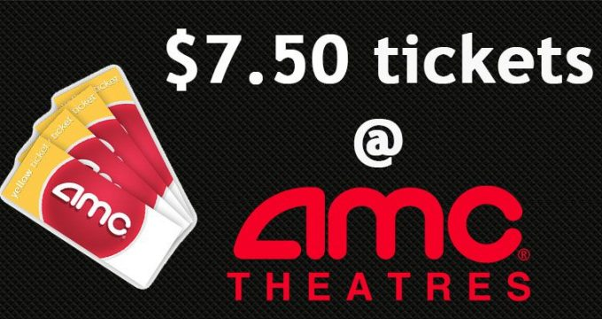 $7.50 Movie Ticket Deal at AMC Theaters
