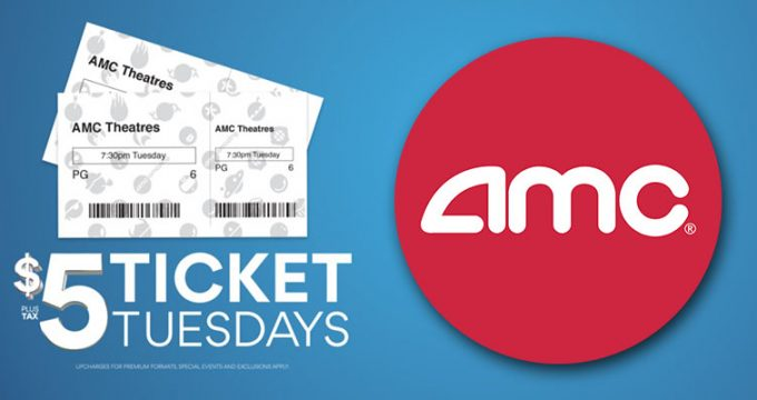 $5 AMC Movie Ticket Deal on Tuesdays