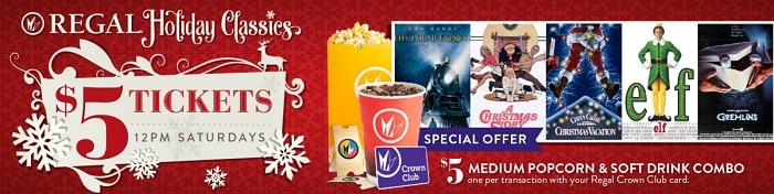 Regal Movie Deal Christmas Classics