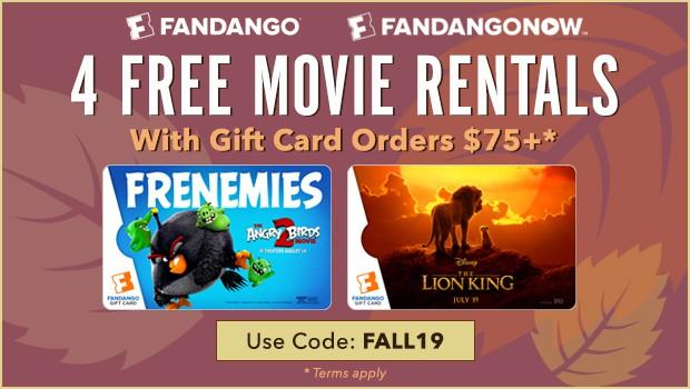 Fandango 4 Free Rentals